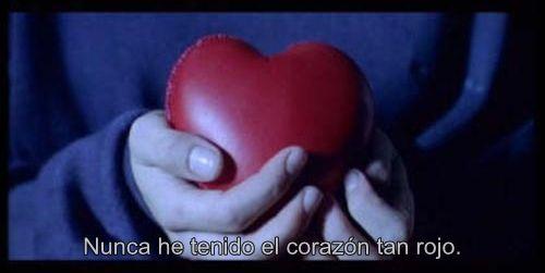 Nunca he tenido el corazón tan rojo