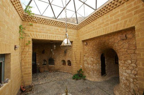Stone, Elie Mouyal, Marrakech, Morocco, Africa, patio