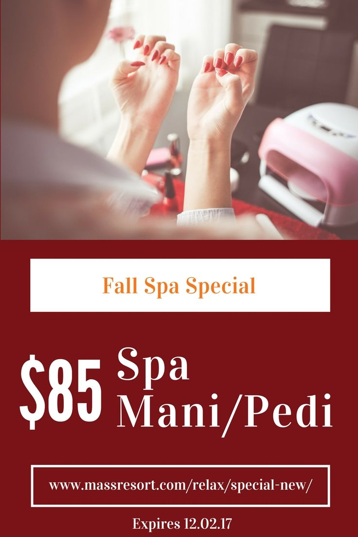 The Spa @ Massanutten is now offering an $85 Mani/Pedi combo for the Fall season! Book both Massanutten Spa Manicure and Pedicure and save $10! *Must be booked in combination for same-day services only. Cannot be split with another guest. Expires 12.02.17. #spa #mani #pedi #fall #nails #manicure #pedicure #deals #packages #relax