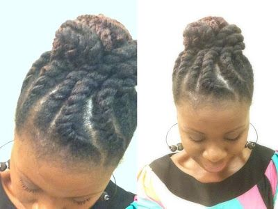 Coilybella Jumbo Flat Twist Updo With Marley Hair Hair Styles Pinterest Flat Twist Updo