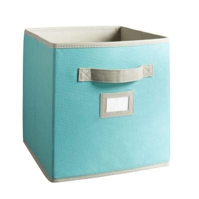 Martha Stewart Living 10-1/2 in. x 11 in. Lagoon Blue Fabric Drawer-4928 at The Home Depot