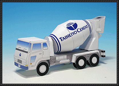 Cement Mixer Truck Free Vehicle Paper Model Download - http://www.papercraftsquare.com/cement-mixer-truck-free-vehicle-paper-model-download.html