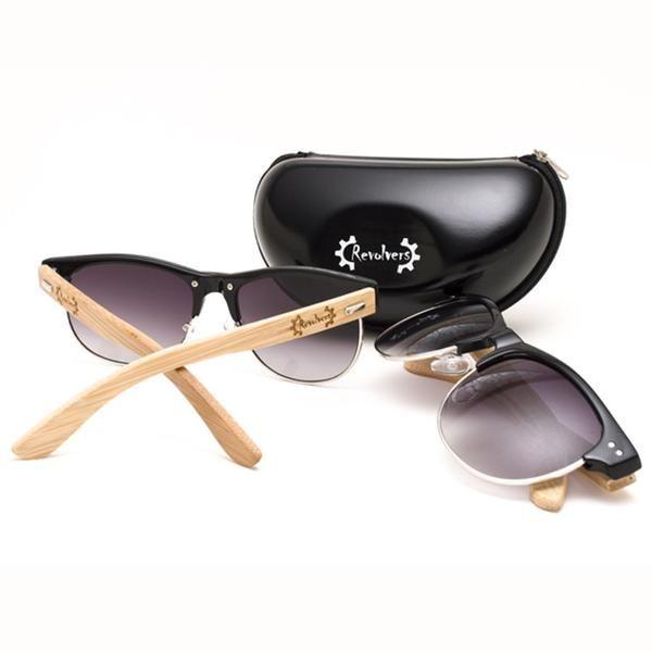"""Ξύλινα Γυαλιά Ηλίου Bamboo """"REVOLVERS"""" Clubmasters   €35.00"""