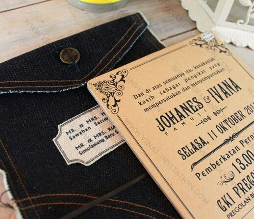 Vinas invitation. Denim jeans inspiration Johanes & Ivana. Any questions please fill in our contact form at website www.vinas-invitation.com. unique