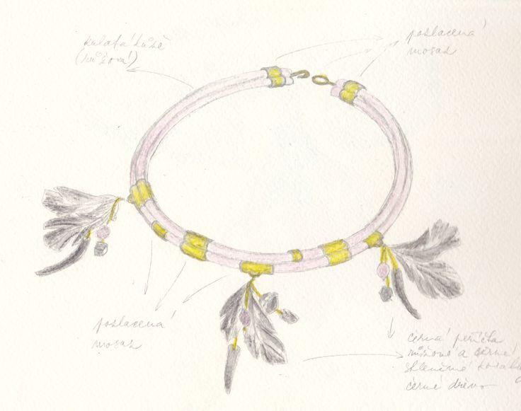 http://iris-jewellery.com/  návrh/design: Iris-Jewellery materiál/makings: kůže/skin; peří/plume; mosaz/brass; skleněné a dřevěné korálky/glass and wooden beads.