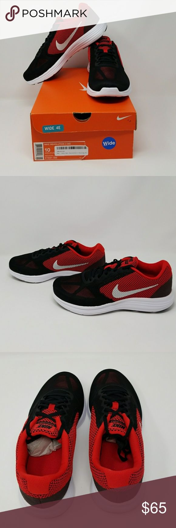 Men's Nike Revolution 3 (4E) Brand new in original box. Size 10 Wide.  Item 121 Nike Shoes Athletic Shoes