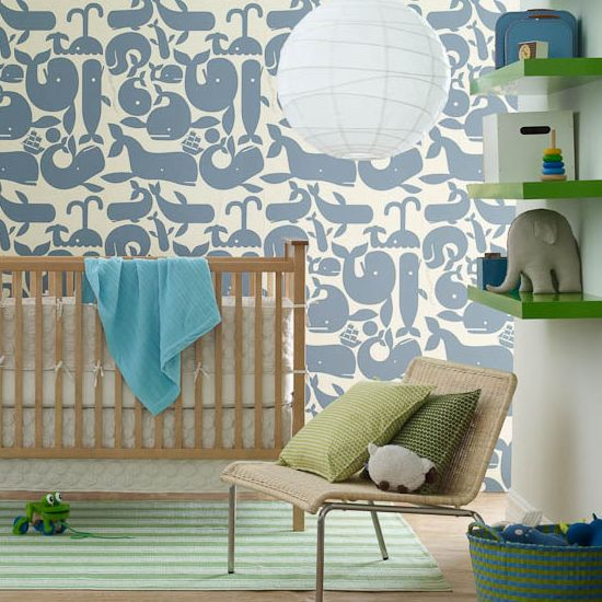 Best Modern Baby Nurseries Green Shelves Love The And Whales 400 x 300