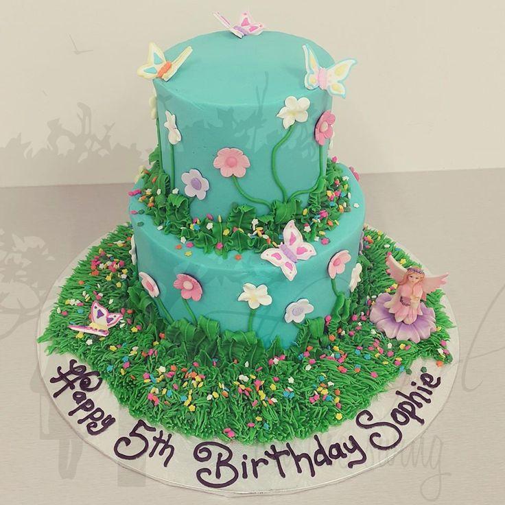 Two Tier Fairy Garden Cake