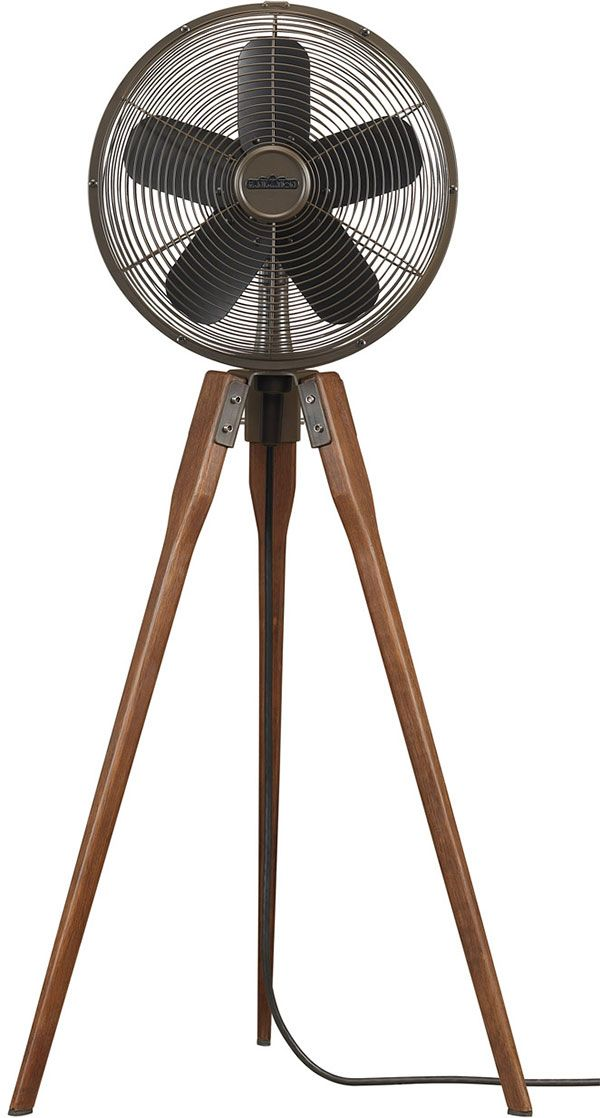 Arden tripod fan with wooden legs