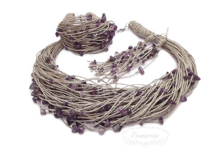 Linen jewelry set