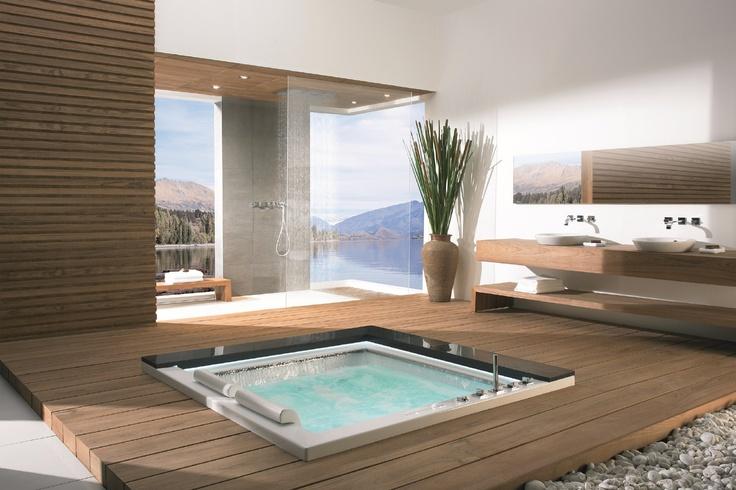 #Kaesch-USA TAKIYU Collection: Whirlpool #Bathtub in awesome #Bathroom with a view, via @rainforest1207