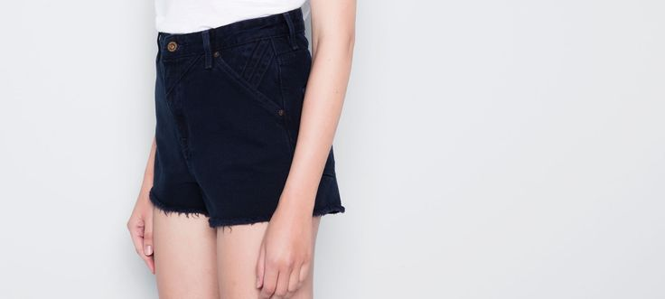 HIGH-WAISTED DENIM SHORTS - TROUSERS AND SHORTS - WOMAN - PULL&BEAR Colombia 79.900