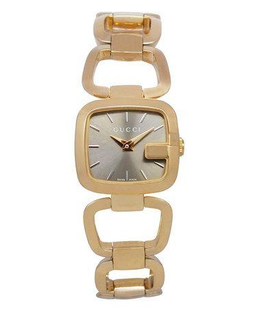 This Brown & Gold G Bracelet Watch is perfect! #zulilyfinds