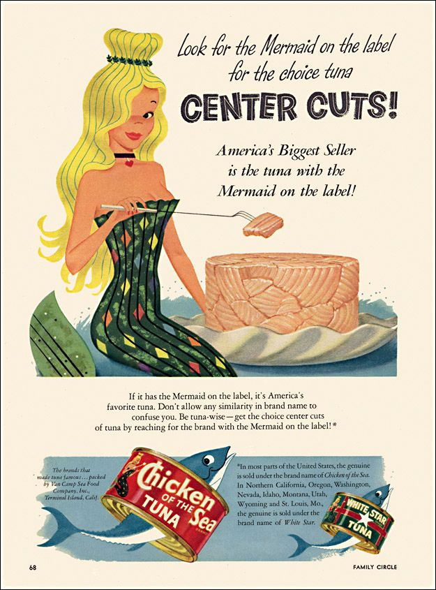 Chicken Of The Sea Ad 1954 American Food History Old