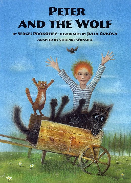 Peter and The Wolf by Russian composer Sergei Prokofiev, beautifully illustrated by Julia Gukova