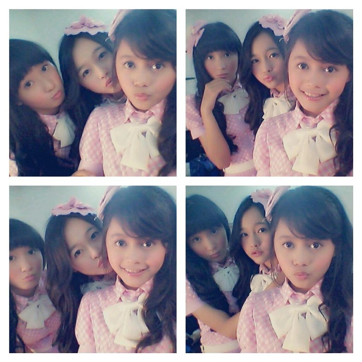 JKT48 Octi Sevpin (Octi) Rona Anggreani (Ayen) (ロナ・アングラエニ) (アエン)  Priscillia Sari Dewi (Sisil)