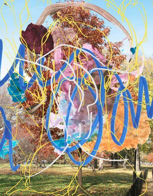 Jeff Koons  Landscape (Tree) II, 2007  Oil on canvas