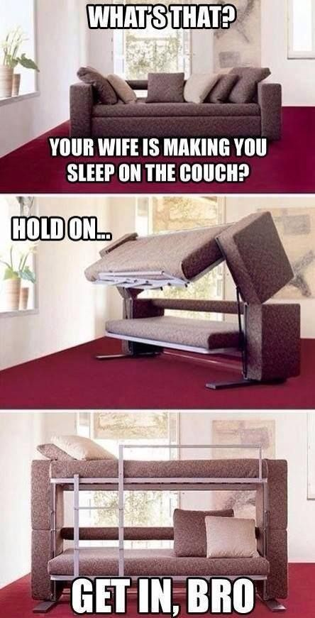 When a wife making a husband sleep on the couch.. - #funny #LOL picture message @mobile9