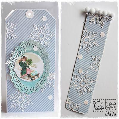 card - tag; snow; bookmark;