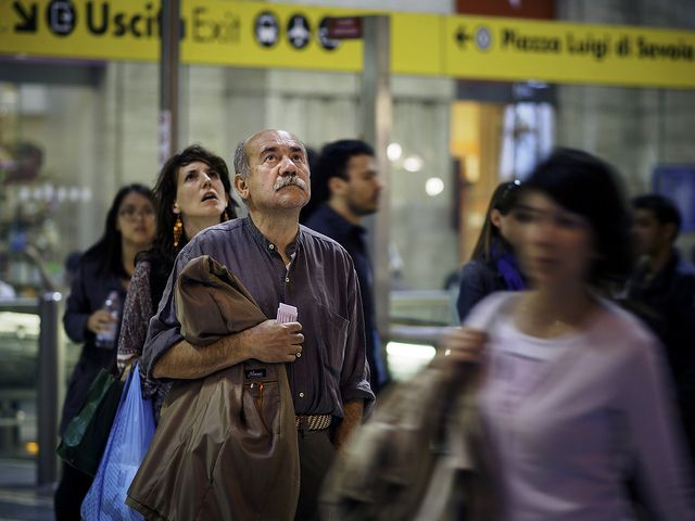 Passengers check train times at Stazione Centrale | by Sohail Karmani