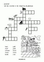 taal/lezen Sint - Woordpuzzel