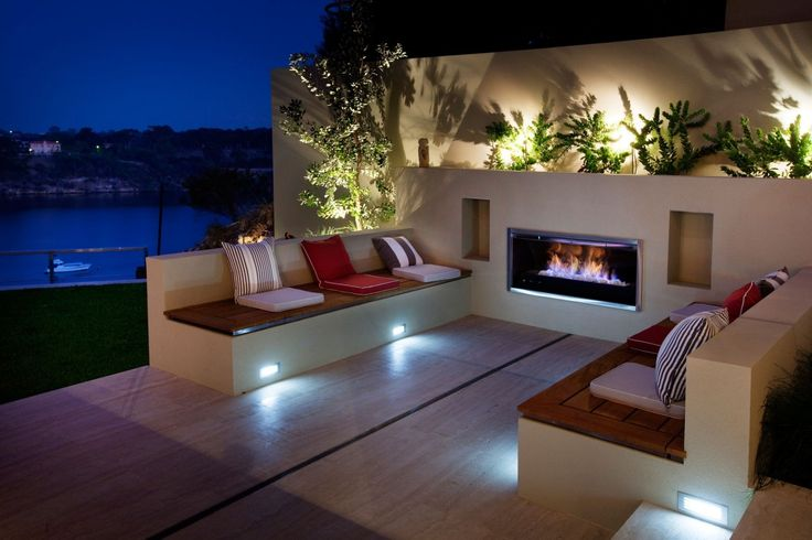 Contemporary Outdoor Fireplace Designs - Popular Interior Paint Colors Check more at http://www.mtbasics.com/contemporary-outdoor-fireplace-designs/