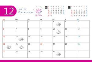 今だから必要!な新メニューが目白押し!12月ワイズルーム営業日です♡ |究極美プライベートスパエステ【Y's Room】 ワイズルーム 12月 カレンダー