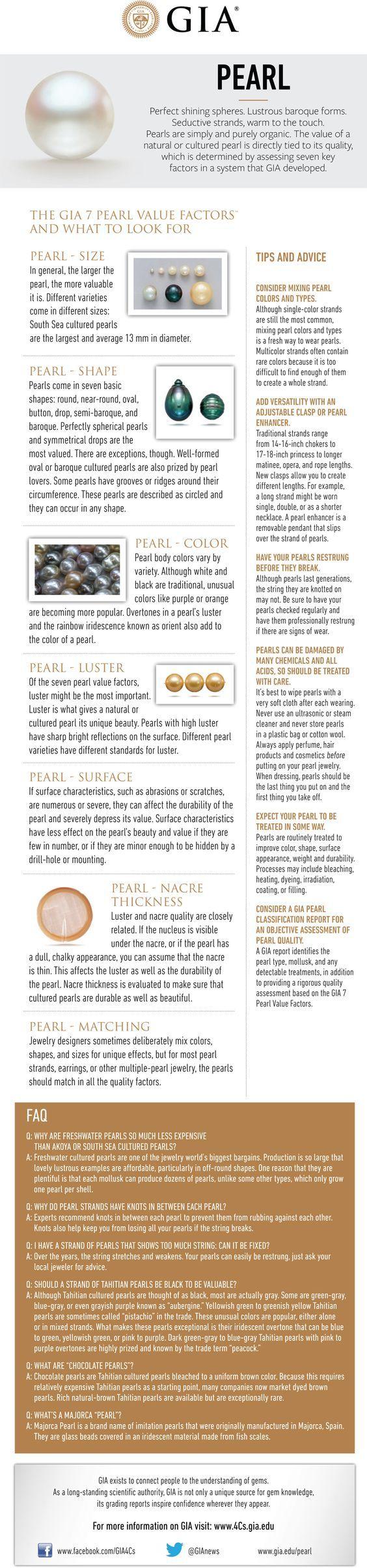 7 fatores para se observar numa pérola