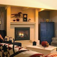 Ventless Propane Fireplaces | ... 32 inch Ventless Gas Fireplace - Remote Ready - Natural Gas or Propane
