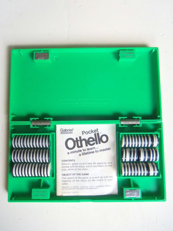 Vintage Pocket Othello Board Game 1977 by WylieOwlVintage on Etsy, $12.50