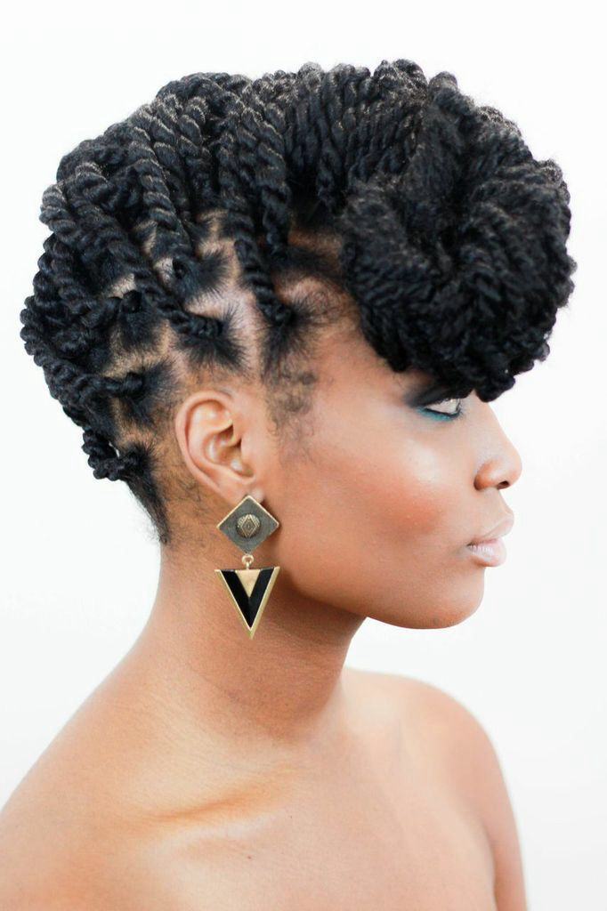 Marley twists Updo | I heart hair! | Pinterest