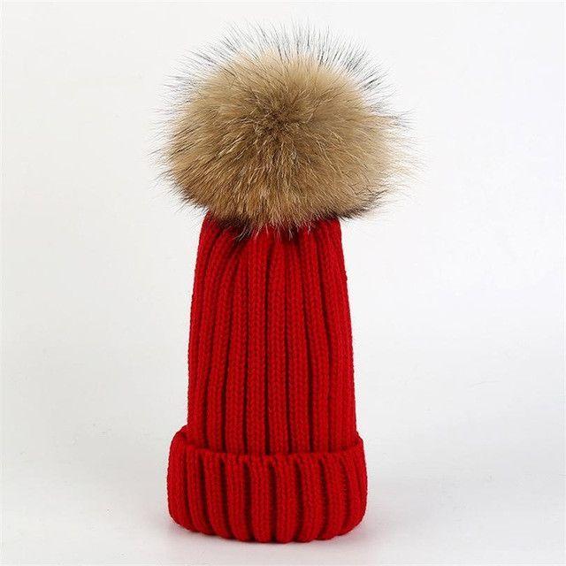 Hot sale mink fur ball cap pom poms winter hat for women girl 's hat knitted beanies cap brand new thick female cap