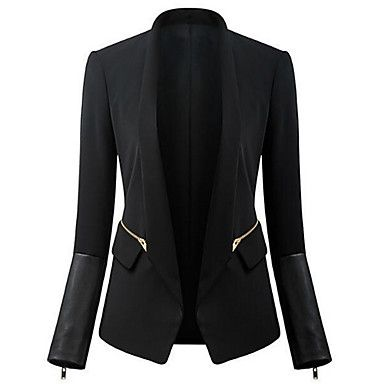 Love it!!! Women's Black Blazer , Casual/Work Long Sleeve – USD $ 16.65