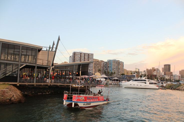 Wilsons' Wharf in Durban Harbour has loads of restaurants, and is a great place to hop onto a cruise of the Durban Harbour (try a 'snack cruise' or a dinner cruise) - one is afforded excellent views of the Durban city skyline. Fishing charters also depart from Wilsons' Wharf.