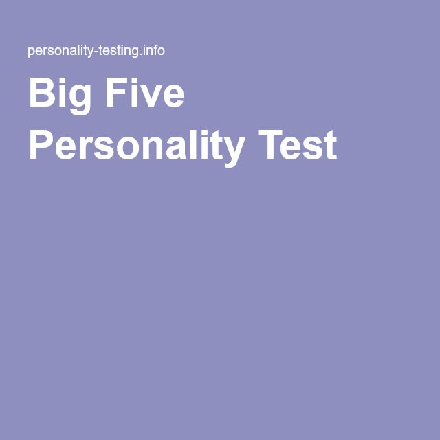 big five personality clusters Ipip big-five factor markers, a measure of the big five personality traits introduction: the big five personality traits are the best accepted and most commonly used model of personality in academic psychology.