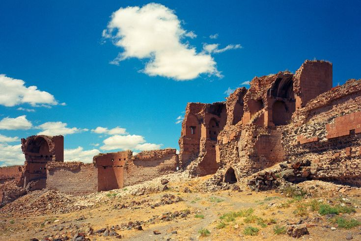 "Ani, Turkey, is a ruined medieval Armenian city-site situated in the Turkish province of Kars, near the border with Armenia.  Between 961 and 1045 it was the capital of the Bagratid Armenian Kingdom that covered much of present day Armenia and eastern Turkey. Called the ""City of 1001 Churches,"" Ani stood on various trade routes and its many religious buildings, palaces, and fortifications were amongst the most technically and artistically advanced structures in the world. At its height…"
