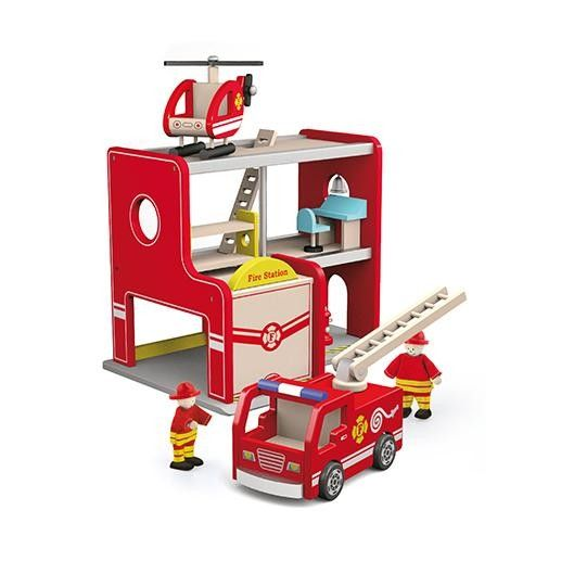Viga - Fire Station My kids would love to play with this - I love all the toys that are included! #EntropyWishList #PinToWin