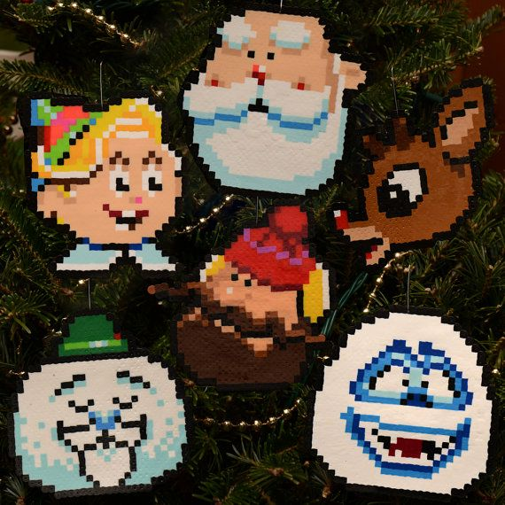 Pixel Art Rankin Bass Rudolph Characters perler beads by adamcrockett