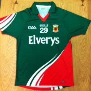 The new Mayo Gaelic football jersey for the 2012 season - being launched tomorrow (Sat. April 7)