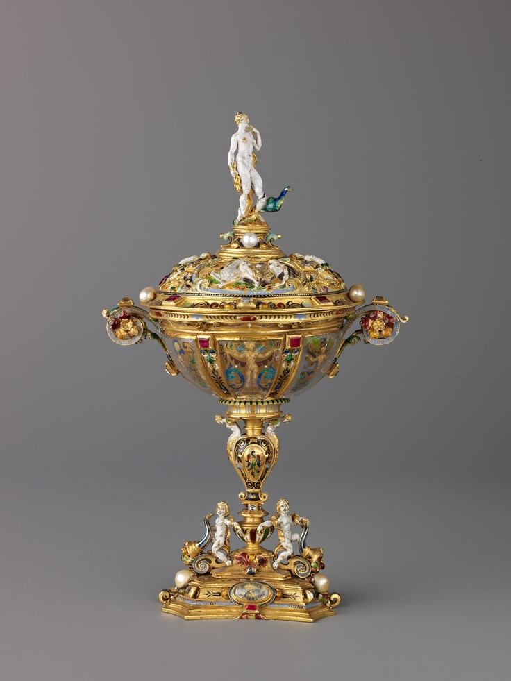 Covered Cup Surmounted by a Stattuette of Juno  French   Artist: Unknown Italian, Ferrara Date: second half 16th century, with later additions