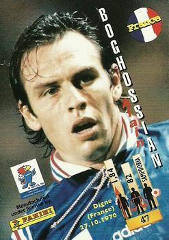 1998 Panini World Cup #47 Alain Boghossian  Back