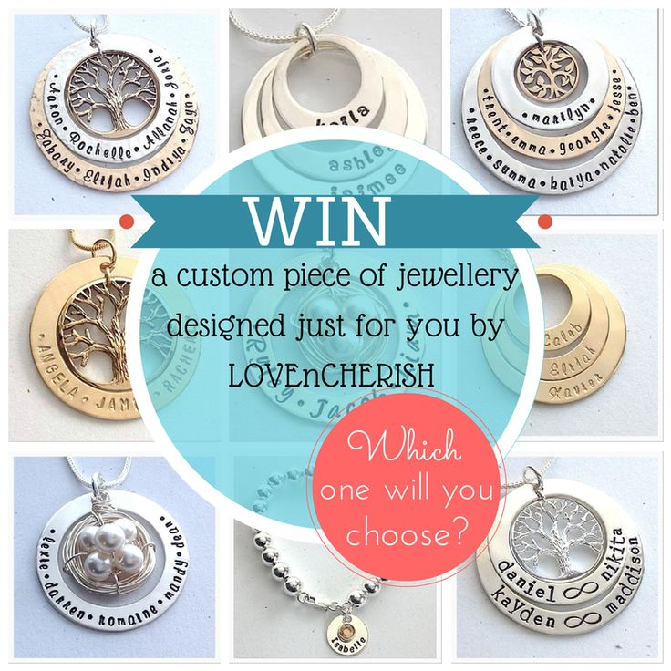 WIN 1 of 2 $100 Jewellery Gift Vouchers to design you own custom piece of jewellery!! Head over to our website to ENTER now or follow this link - http://www.lovencherish.com/#!giveaways/cig7