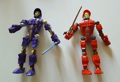 Lego Knights Kingdom Red Santis 8773 & Purple Danju 8770 Large Figures 7.55''