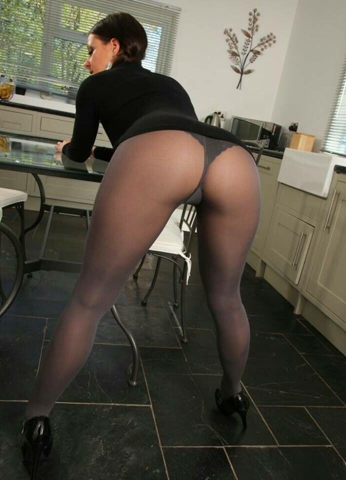 Can pantyhose rear view