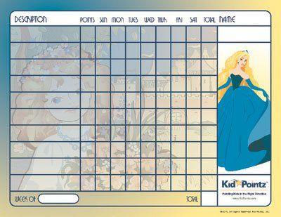 Behavior Chart | Princess Theme| Kid Pointz