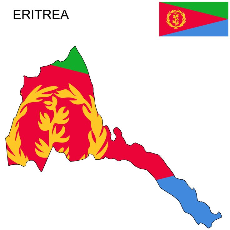 Download Eritrea Flag Map and Meaning | Eritrea flag, Flag, Map