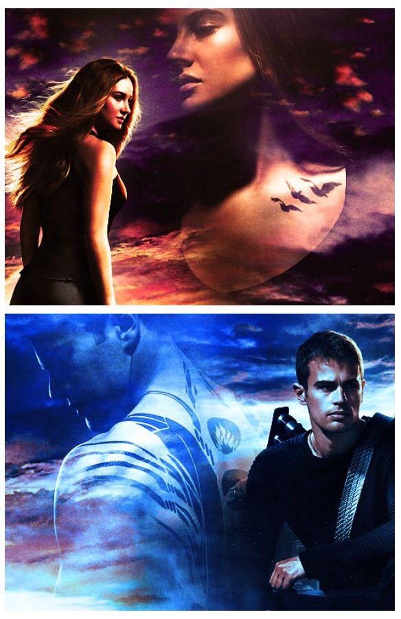 Divergent – Insurgent – Allegiant – Theo James – Tobias Eaton - Four - Shailene Woodley - Tris #Fourtris