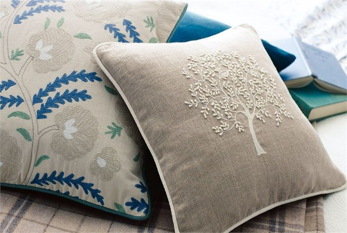 4. Wightwick and Woodland Trees Cushion - Woodland Embroideries