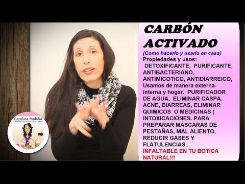 CARBÓN ACTIVADO VEGETAL, como hacer y beneficios para la piel y salud - YouTube