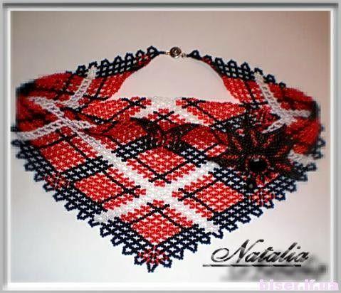 Beads Necklaces, Plaid